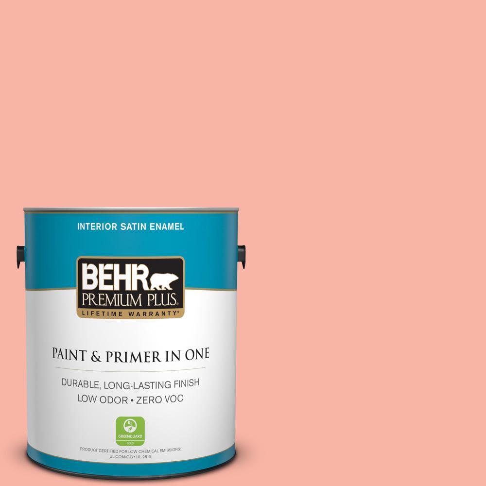 1 gal. #180A-3 Just Blush Satin Enamel Zero VOC Interior Paint