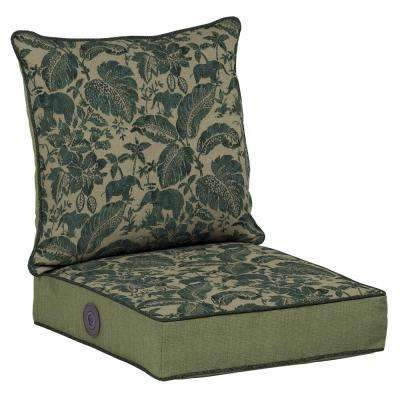 Casablanca Elephant Adjustable Comfort 2-Piece Deep Seating Outdoor Lounge Chair Cushion