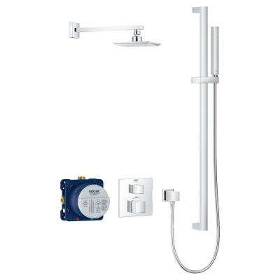 Grohtherm Cube 2-Spray Shower Set with Euphoria Cube in StarLight Chrome