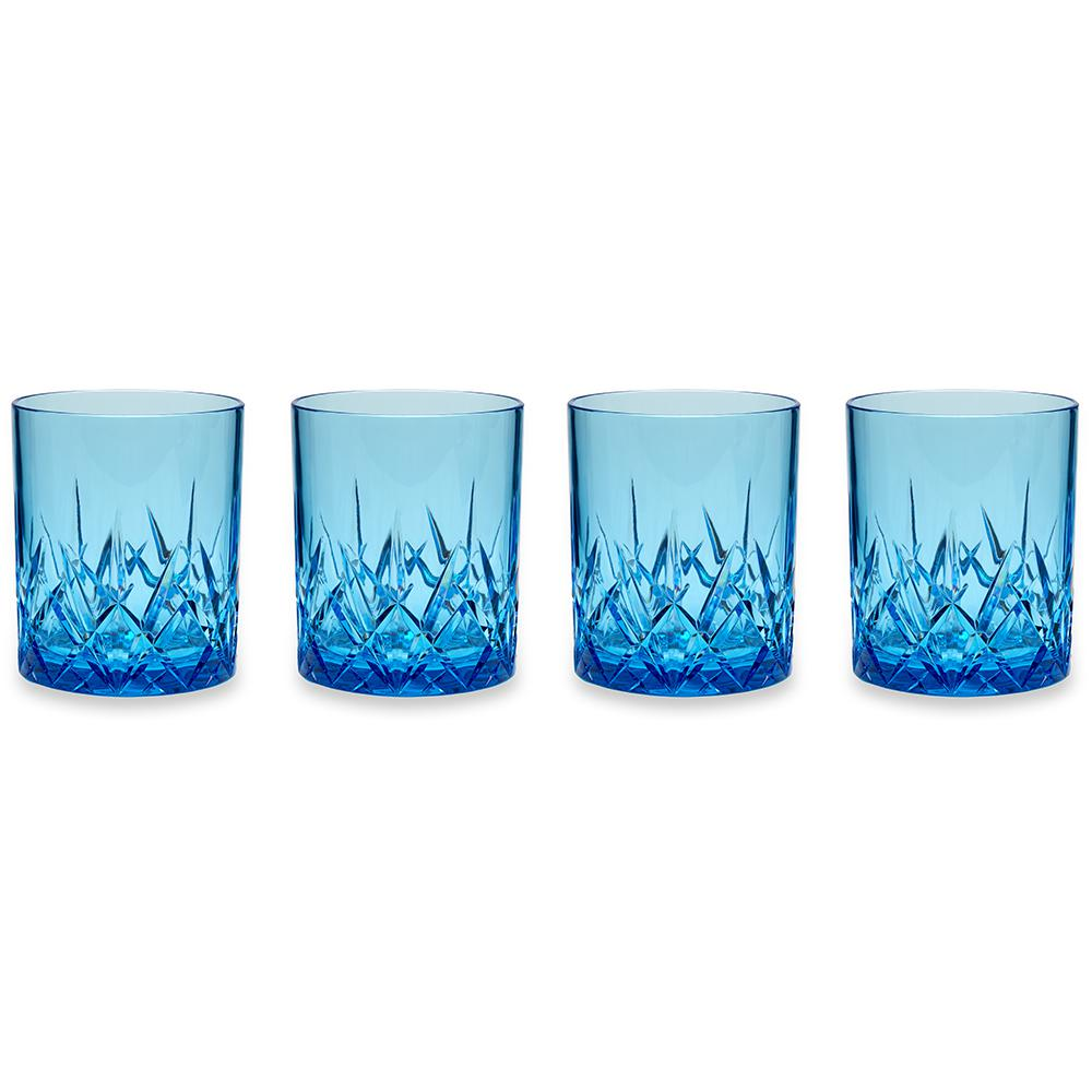 Aurora 14 oz. Blue DOF Tumbler (Set of 4)