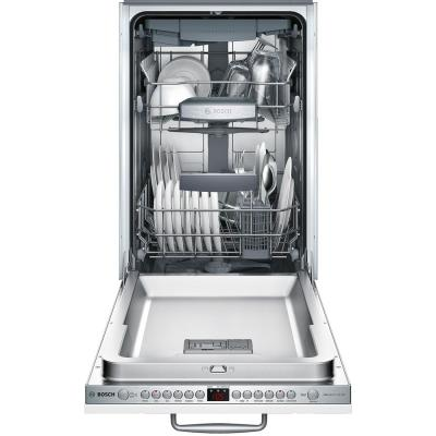 800 Series 18 in. ADA Compact Top Control Dishwasher in Custom Panel Ready with Stainless Steel Tub and 3rd Rack, 44dBA
