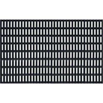 Airpath Black 2 ft. x 3 ft. PVC Anti Fatigue and Safety Mat