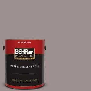Behr Premium Plus 1 Gal 780b 5 Cheyenne Rock Flat Exterior Paint And Primer In One 440001 The Home Depot
