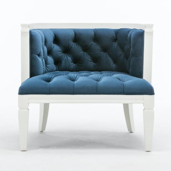 CEETS Blue Tufted Majorca Accent Chair AC049-BL