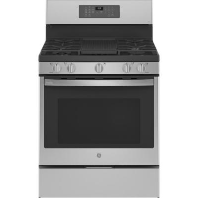 Profile 30 in. 6.4 cu. ft. Gas Range with Self-Cleaning Convection Oven and Air Fry in Stainless Steel
