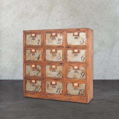 Archaeology 60 in. x 60 in. x 18 in. Mahogany and Metal Chest