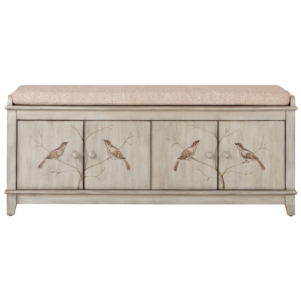 Home Decorators Collection Chirp Antique Pewter Storage Bench
