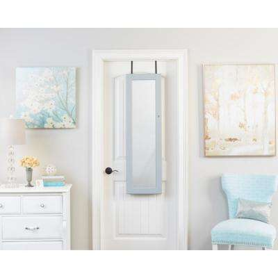 Gray Deluxe Mirrored Jewelry Armoire