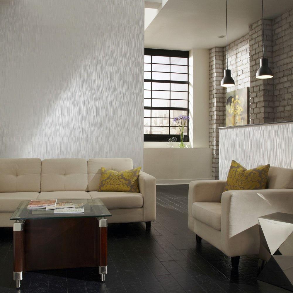 Interior Wall Paneling Home Depot : Fasade waves vertical in decorative wall