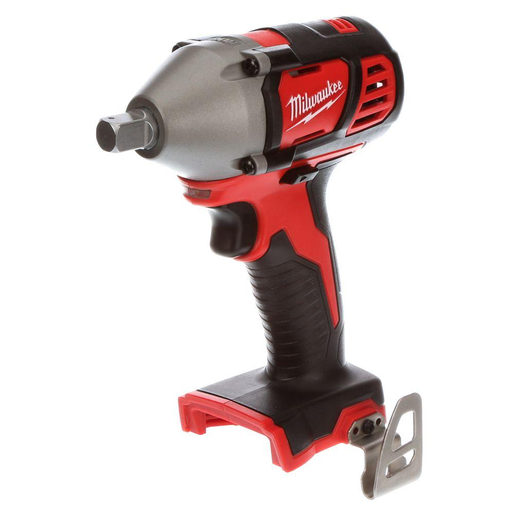 1 2 Cordless Impact >> Milwaukee M18 18 Volt Lithium Ion 1 2 In Cordless Impact Wrench W Pin Detent Tool Only