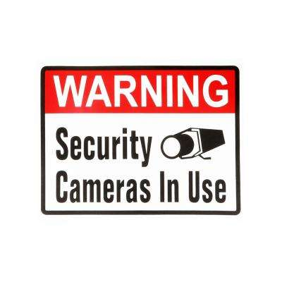 4 in. x 5 in. Adhesive Security Camera Sign