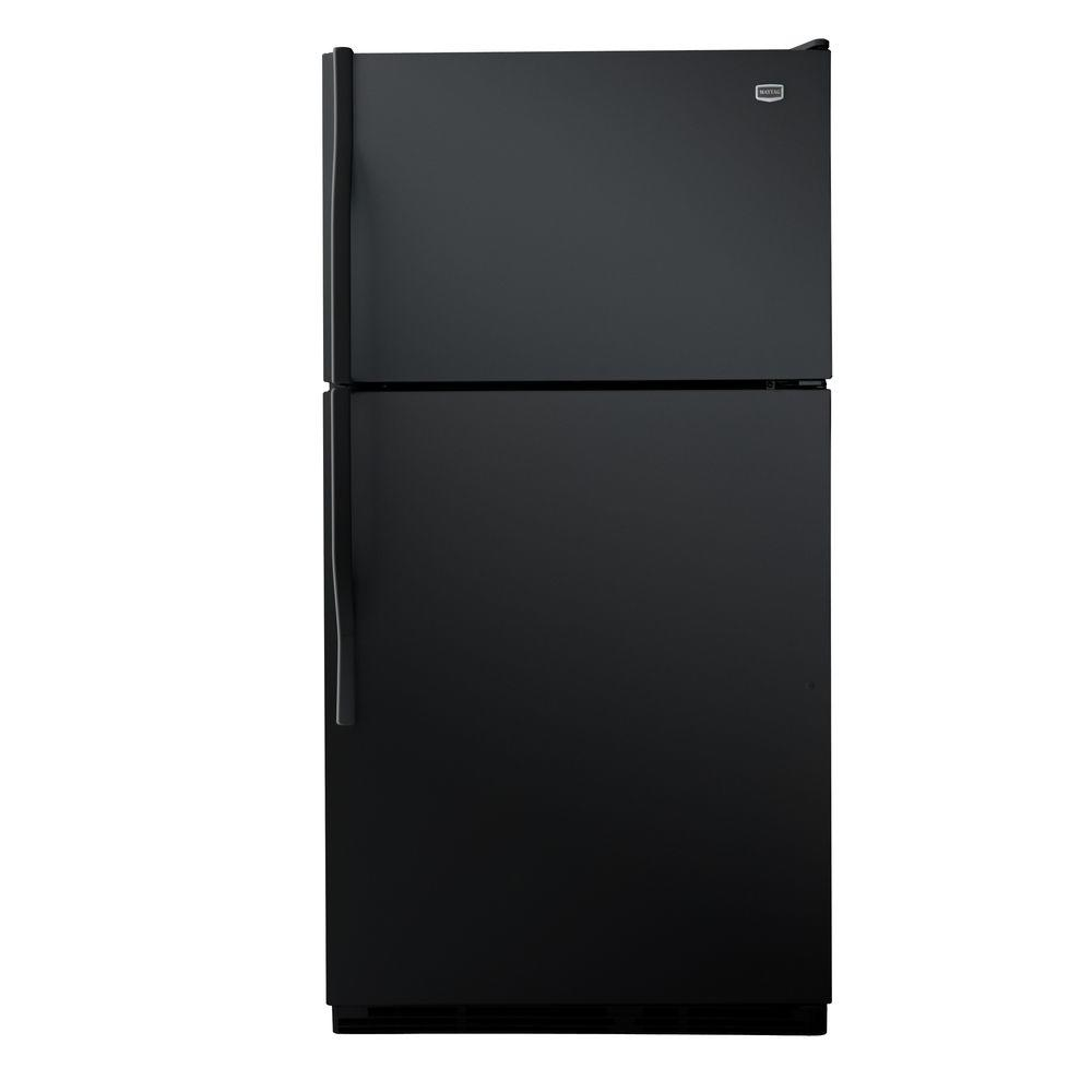 Maytag 20.6 cu. ft. Top Freezer Refrigerator in Black