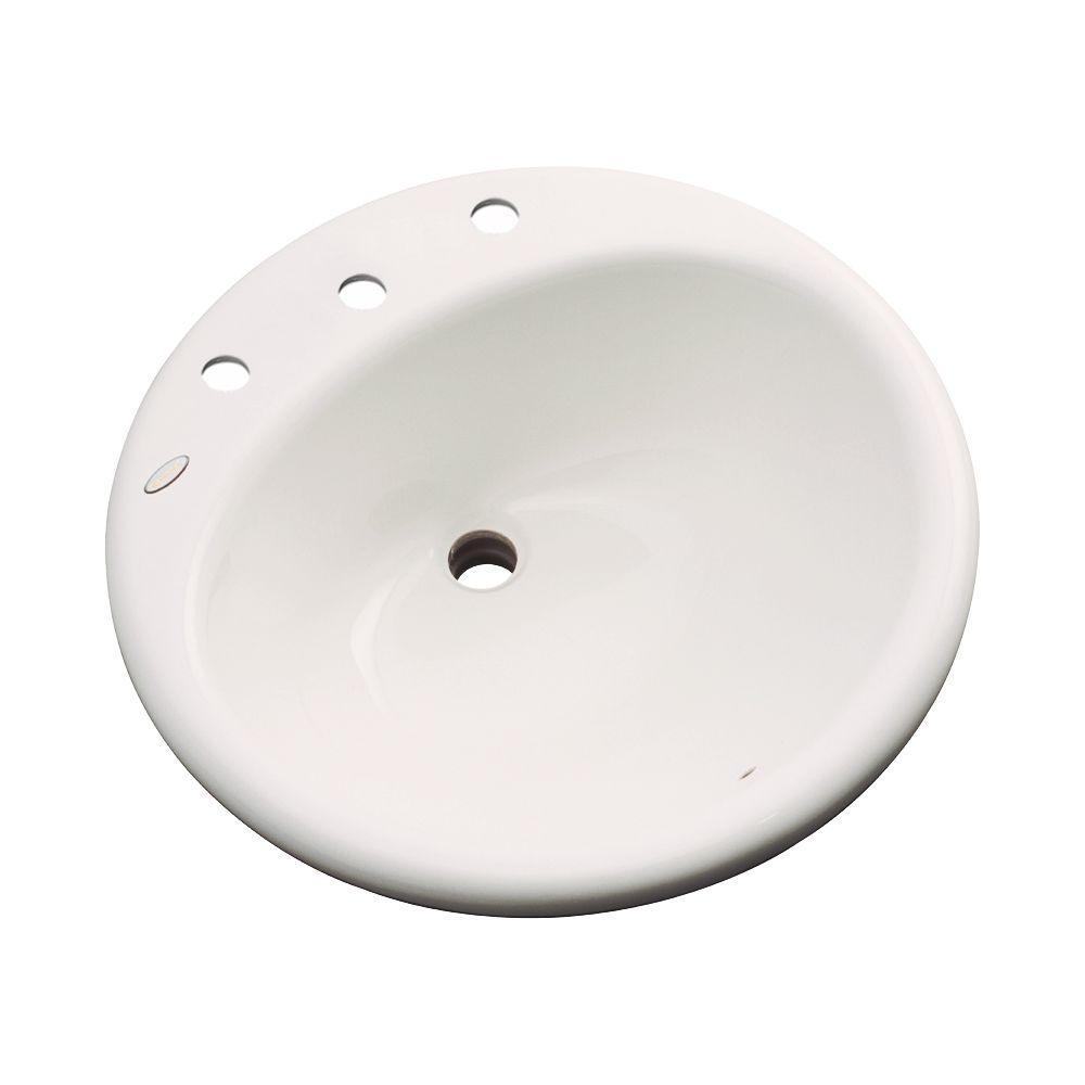 Clarington Drop-In Bathroom Sink in Bone