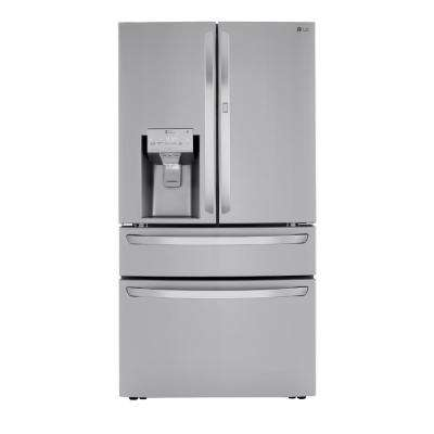 29.5 cu.ft. Smart French 4-Door, Door-In-Door Full Convert with Craft Ice Refrigerator in PrintProof Stainless Steel