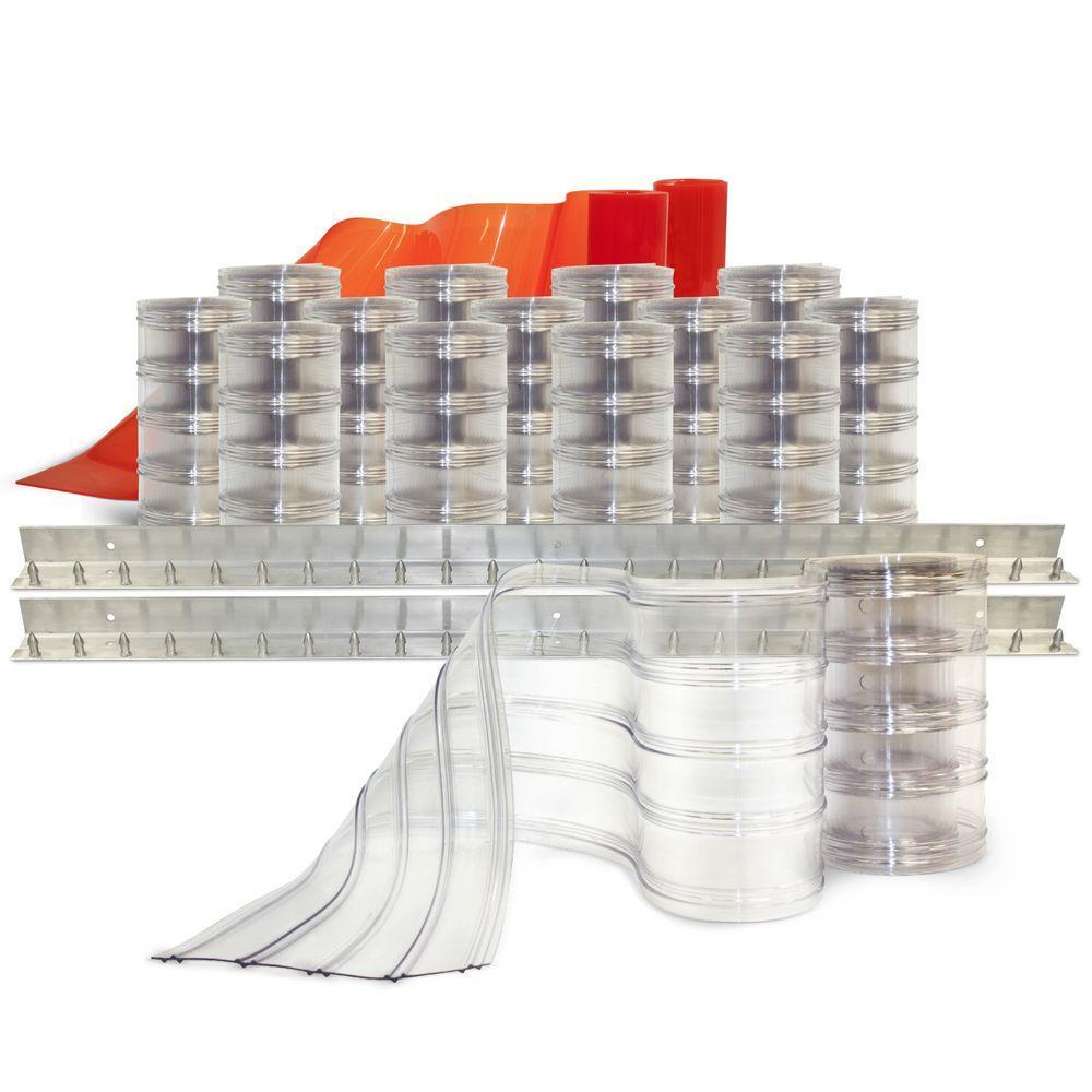 Aleco Scratch-Guard 8 ft. x 8 ft. PVC Strip Door Kit
