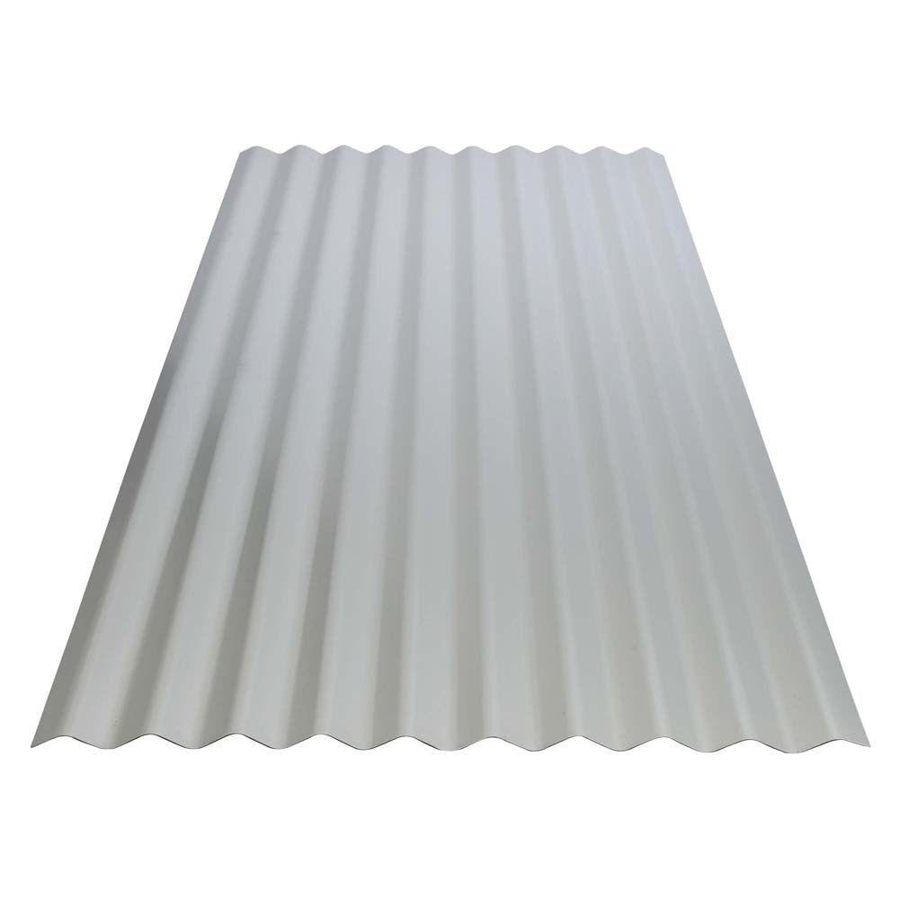 12 ft. Corrugated Galvalume Steel 26-Gauge Roof Panel