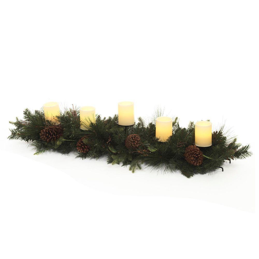 null 48 in. Mixed Pine and Cedar Candle Holder