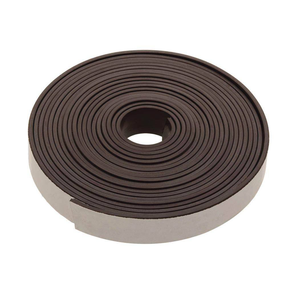 Crown Bolt 1/2 in. x 120 in. Black Self-Adhesive Magnetic Strip