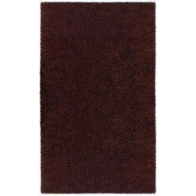 Brown Shag Chenille Twist 2 ft. 6 in. x 4 ft. 2 in. Accent Rug