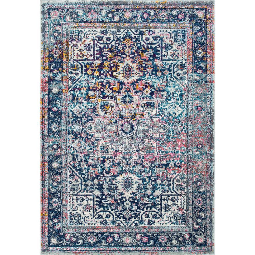 Nuloom Persian Vintage Raylene Pink 4 Ft X 6 Ft Area Rug