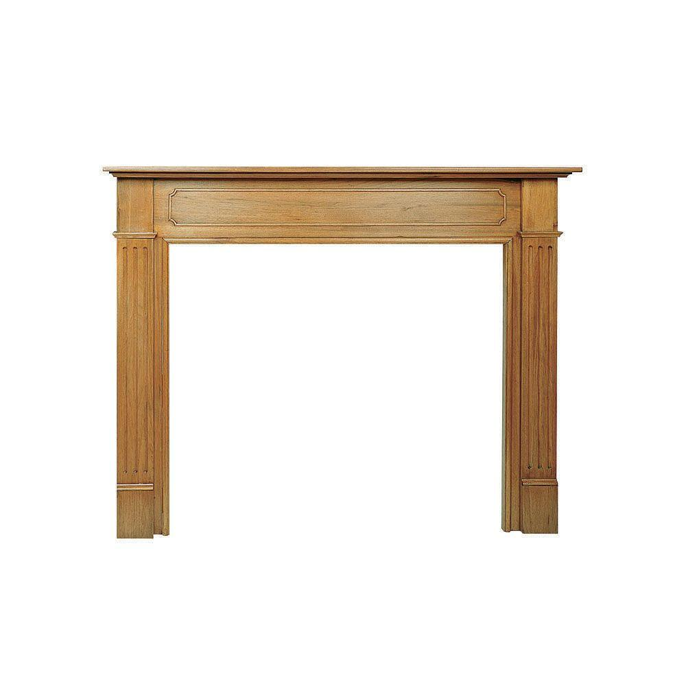 pearl mantels the williamsburg 56 in x 42 in unfinished full rh homedepot com Faux Kits Fireplace Stone Linerior Sale Home Depot Electric Fireplace