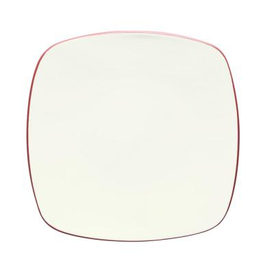 Colorwave 10.75 in. Raspberry Square Dinner Plate