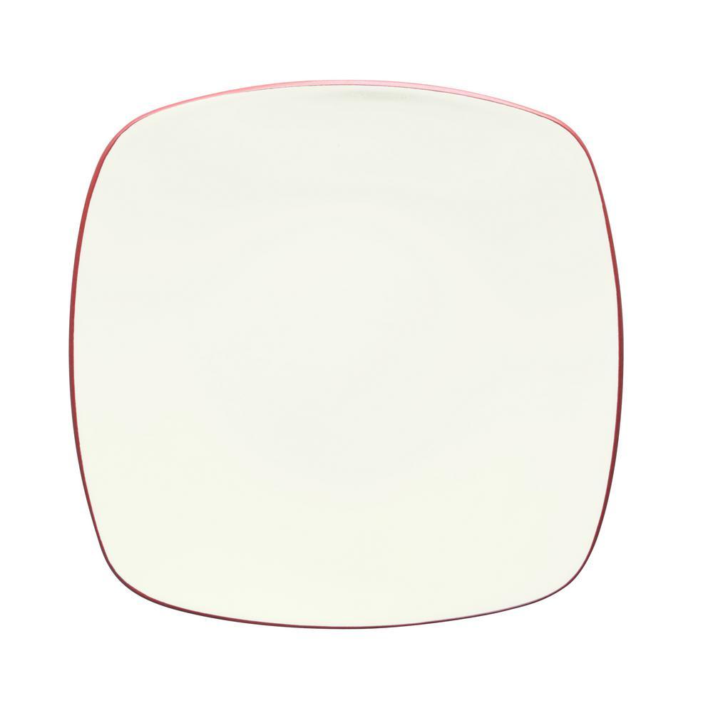 Noritake Colorwave 10.75 in. Raspberry Square Dinner Plate