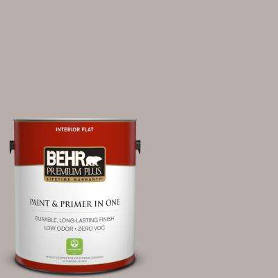 1 gal. #PPU17-11 Vintage Mauve Flat Zero VOC Interior Paint and Primer in One