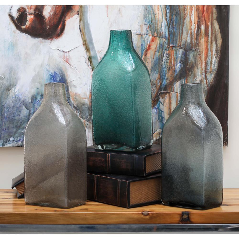 15 in. Multi Glass Decorative Vase (Set of 3)