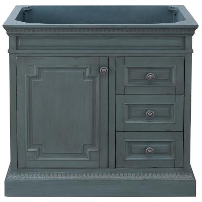 Cailla 36 in. W x 21.50 in. D Bath Vanity Cabinet Only in Distressed Blue Fog