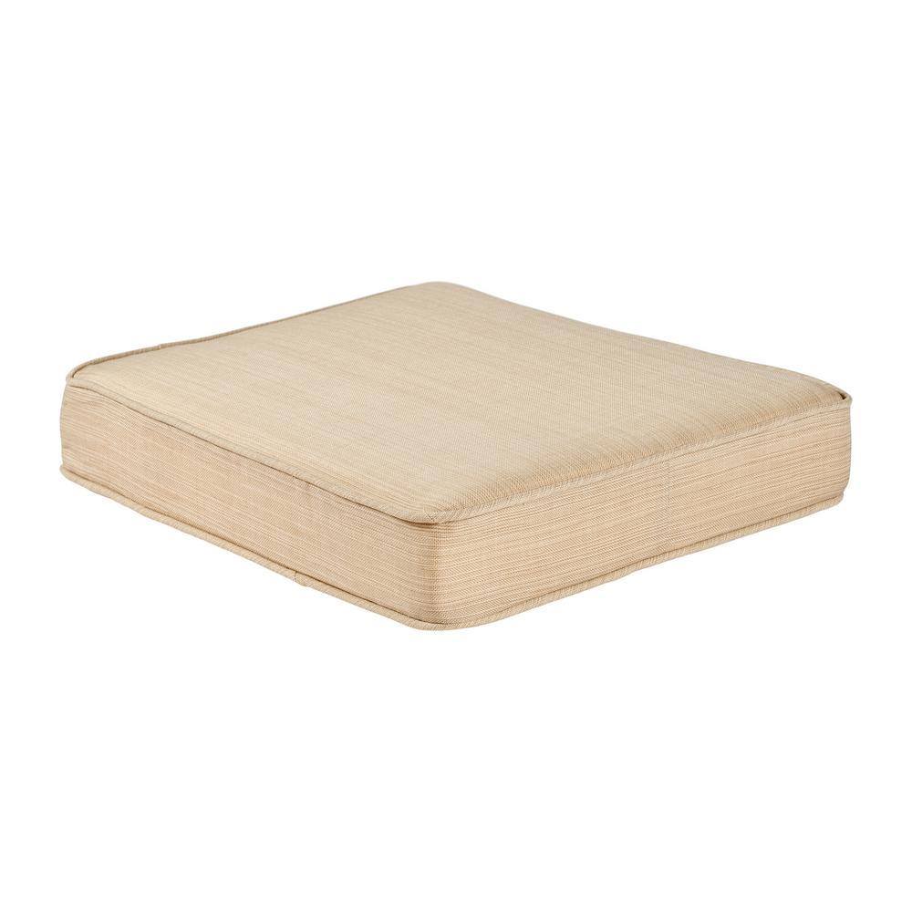 Spring Haven 23.25 x 19.2 Outdoor Ottoman Cushion in Standard Beige