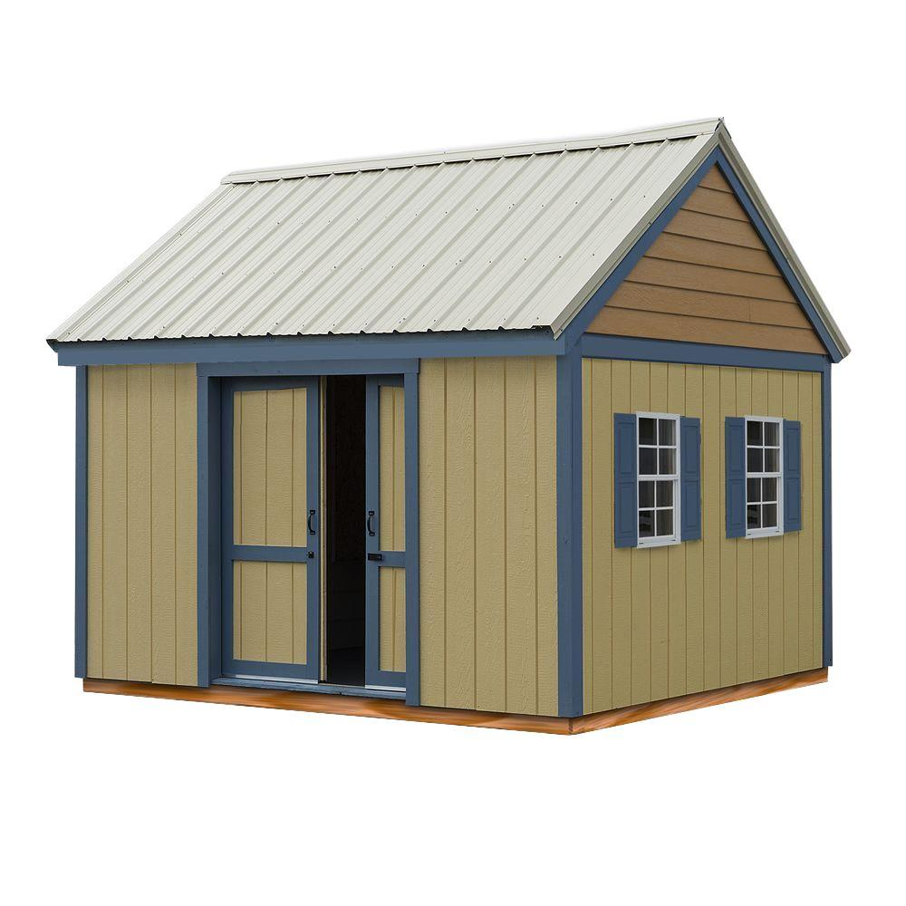 Brookhaven 10 ft. x 12 ft. Storage Shed Kit with Floor