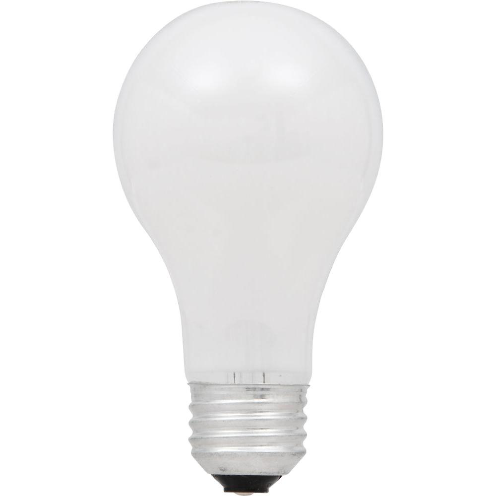 60-Watt Equivalent A19 Dimmable Double Life Eco-Incandescent Light Bulb, Soft