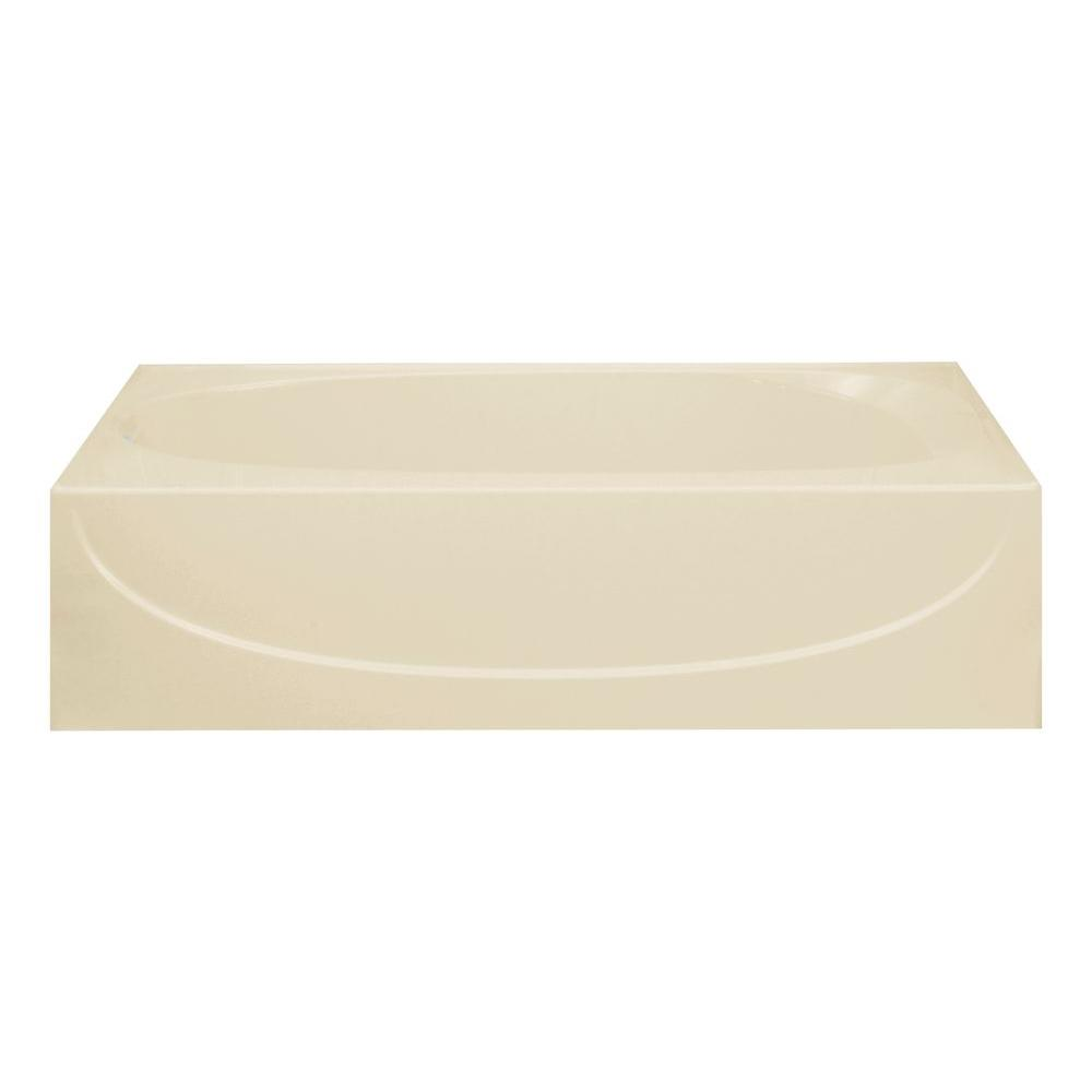 STERLING Acclaim 5 ft. Left Drain Soaking Tub in Almond