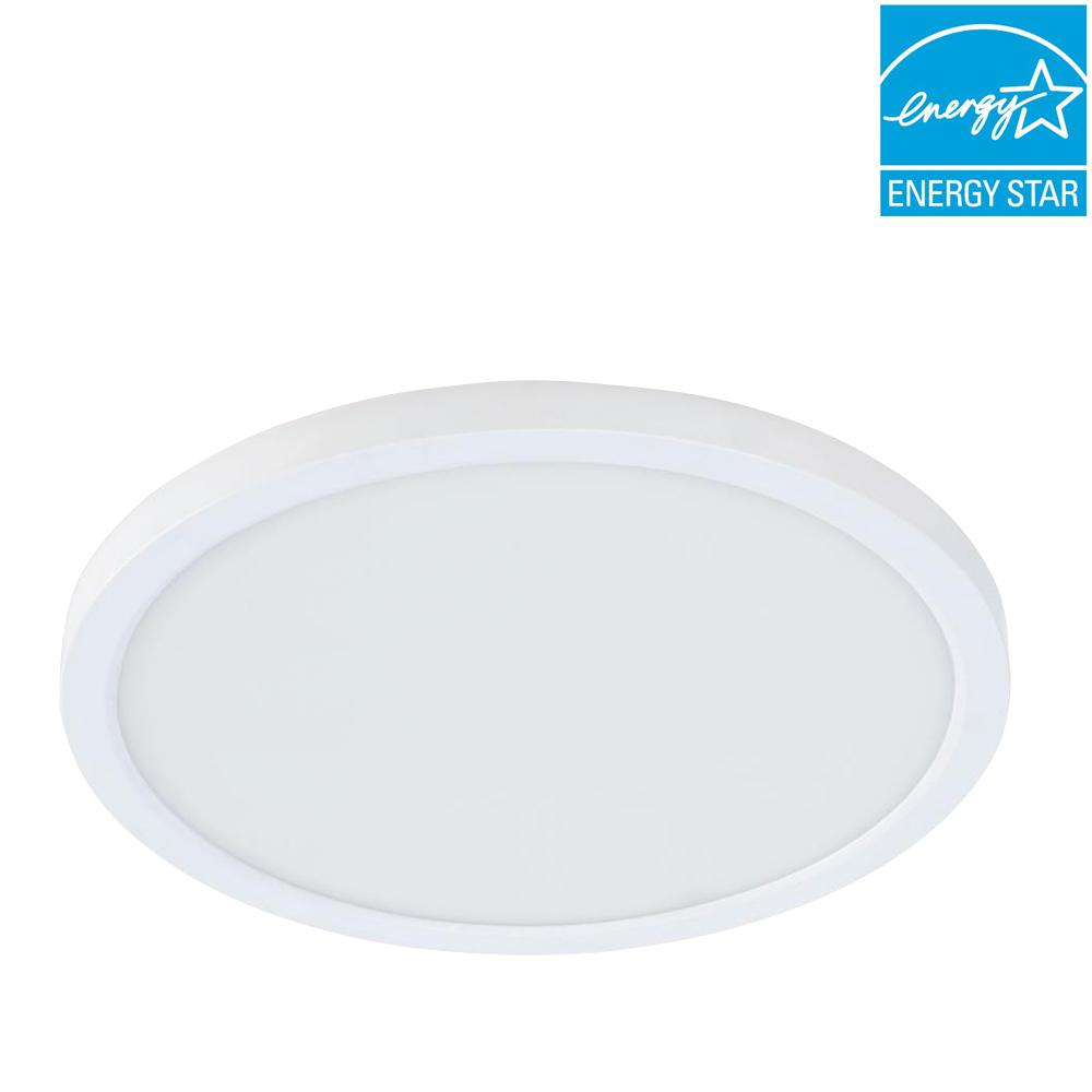 4 in./J-Box 8-Watt Dimmable White Integrated LED Round Flat Panel Ceiling