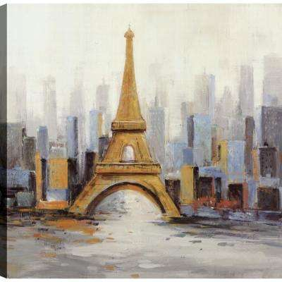 Eiffel Tower Paris II, Landscape Art, Unframed Canvas Print Wall Art 24X24 Ready to hang by ArtMaison.ca