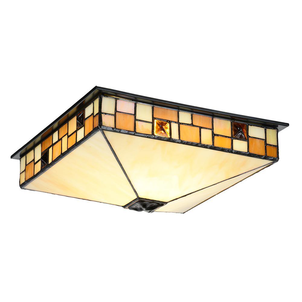 Sundance 150-Watt Bronze Integrated LED Ceiling Flush Mount