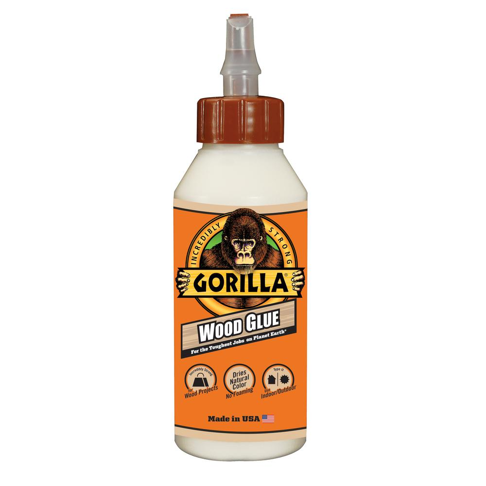 Gorilla 8 Oz Wood Glue 62000 The Home Depot