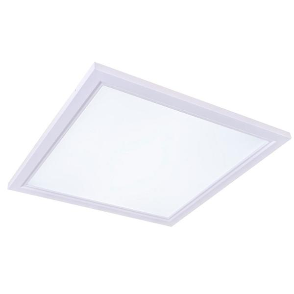 2 ft. x 2 ft. White Dimmable Edge-Lit 40-Watt 4000K Integrated LED Flat Panel Flushmount Wraparound