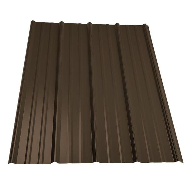 16 ft. Classic Rib Steel Roof Panel in Burnished Slate