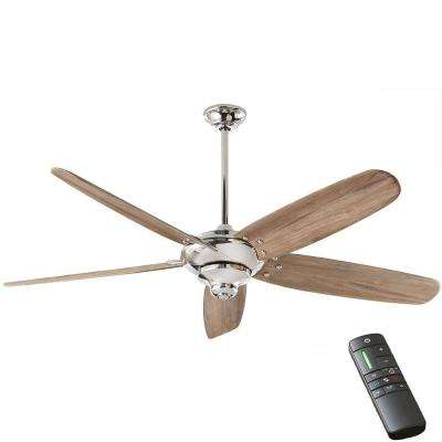 Altura DC 68 in. Indoor Polished Nickel Ceiling Fan with Remote Control