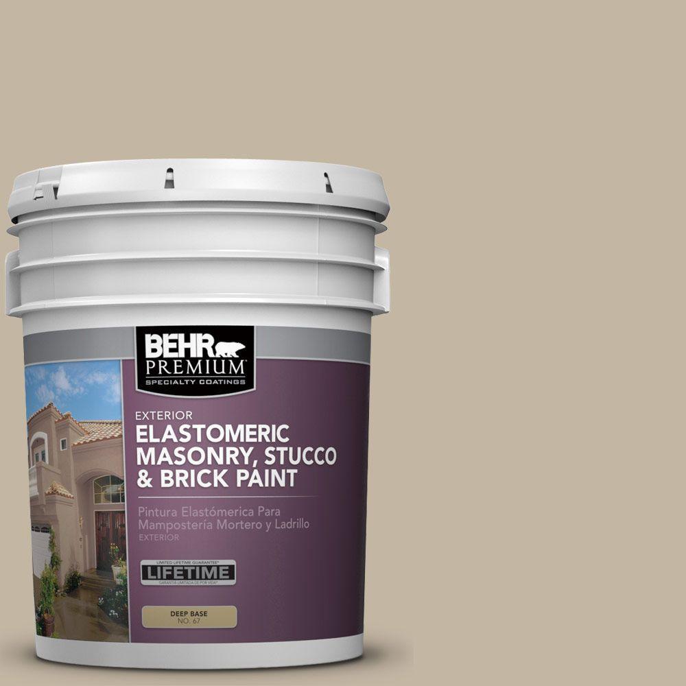 BEHR PREMIUM 5 Gal. #MS-43 Sandstone Elastomeric Masonry, Stucco and Brick Exterior Paint