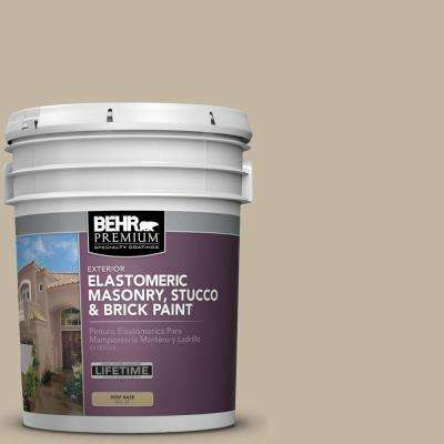 5 Gal. #MS-43 Sandstone Elastomeric Masonry, Stucco and Brick Exterior Paint