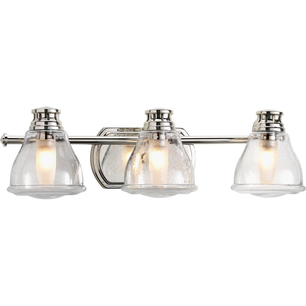 Progress Lighting Academy Collection 3 Light Polished Chrome Vanity