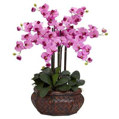 30 in. H Mauve Large Phalaenopsis Silk Flower Arrangement