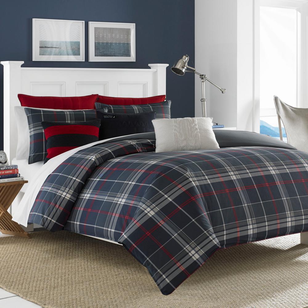 Booker 3-Piece Charcoal Full/Queen Comforter Set