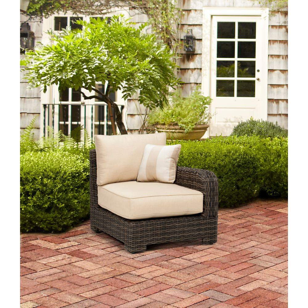 Northshore Right Arm Patio Sectional Chair with Harvest Cushion and Regency