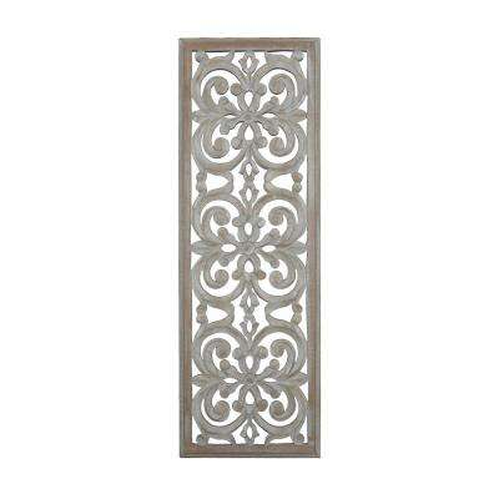 Jevan Beige Hand Carved Wooden Panel