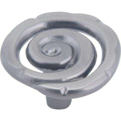 Scroll Collection 1-1/2 in. Pewter Cabinet Knob