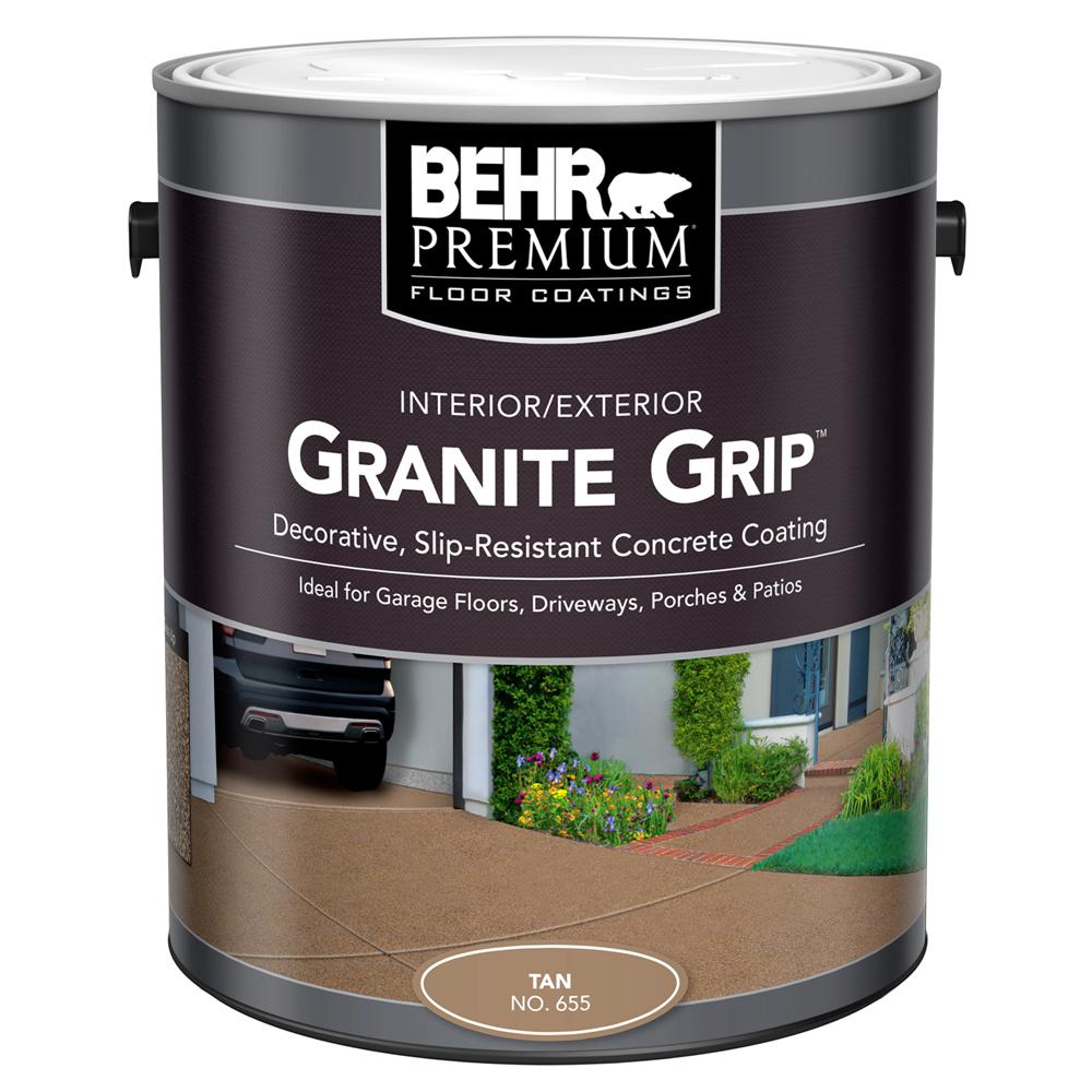 behr 1 gal 65501 tan granite grip interior exterior concrete paint